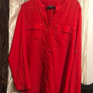 Red dressy blouse